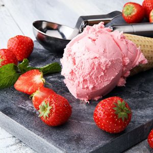 Homemade Italian Gelato Strawberry Flavour